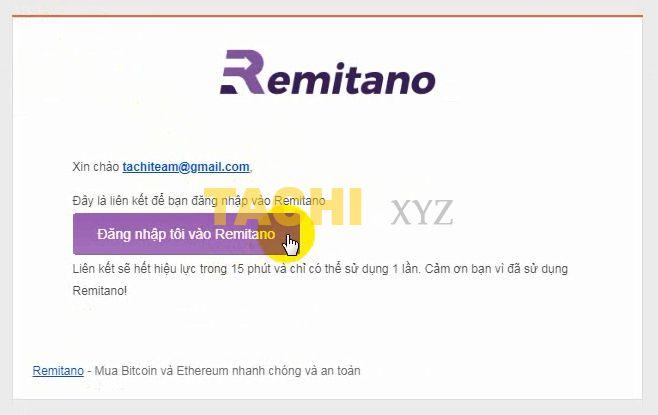 đăng nhập remitano