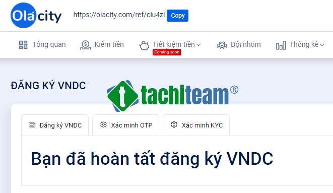 đăng ký VNDC thành công