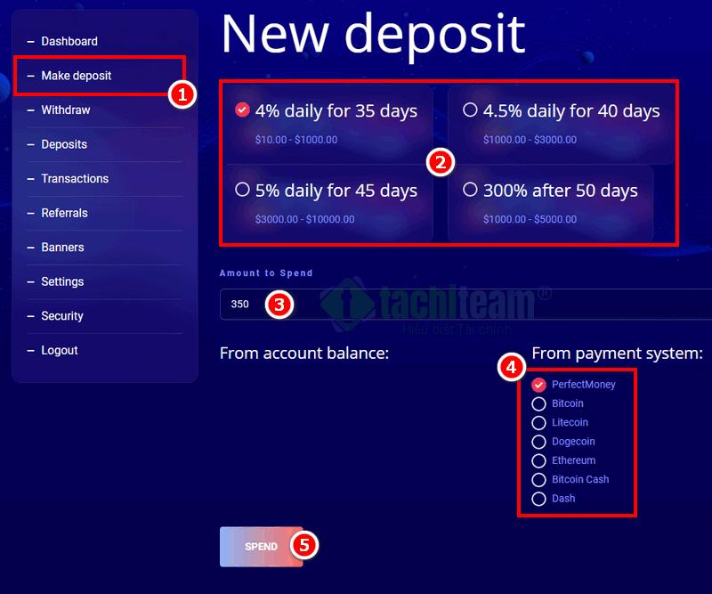 Neuro Trade deposit