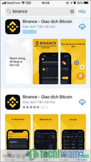 đăng ký binance trên điện thoại app