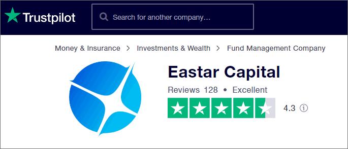 Eastar Capital được đánh giá khá cao trên TrustPilot