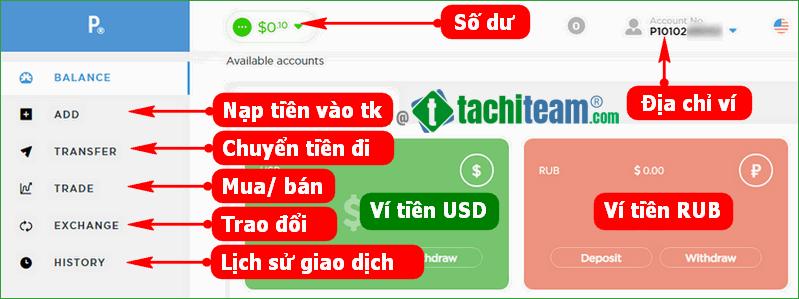 Cách sử dụng ví Payeer
