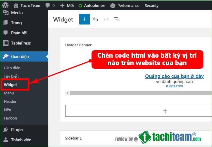 Hướng dẫn chèn code HTML A-ads vào website