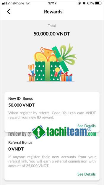 vndt là gì? nhận ngay 50k vào tài khoản reward