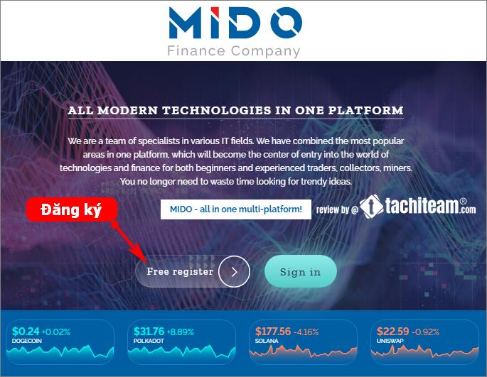 Đăng ký tài khoản Mido Finance
