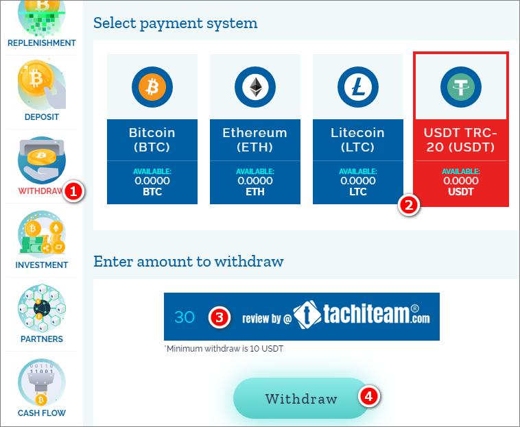 mido finance withdraw