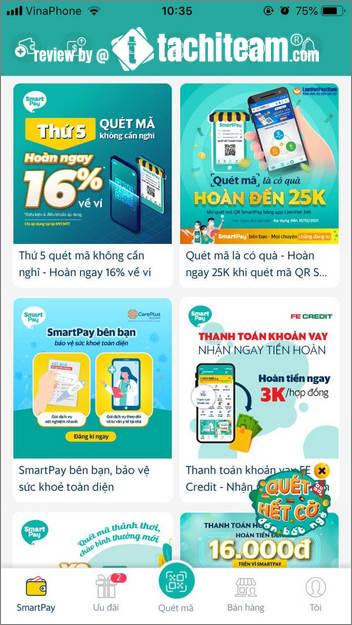 ưu đãi hàng ngày của ví Smartpay 1