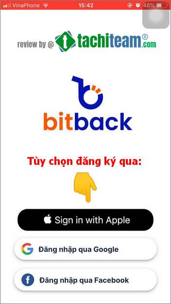 chọn đăng ký bitback